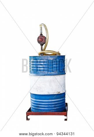Isolated Manual Gasoline Pump