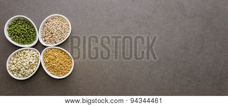 Cereals Collection For Health Background.