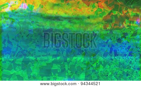 Colorful Green Abstract