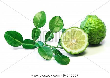 Kaffir lime, a fruit used in Lao and Thai curry paste.