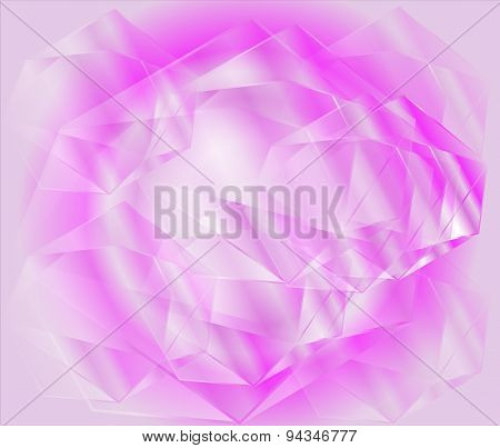 Abstract background with a crystal