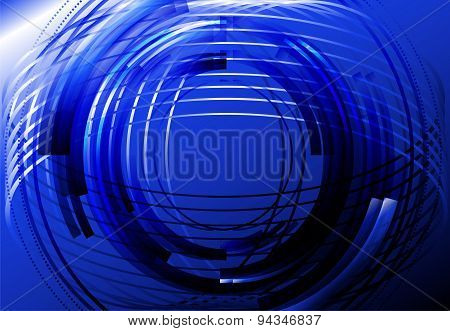 Abstract business technology colorful blue circle line