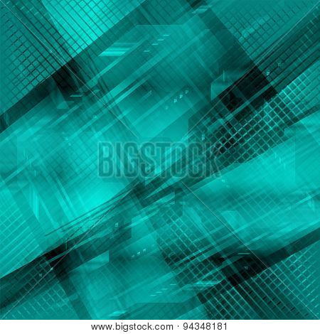 Grid Abstract Technology blue background