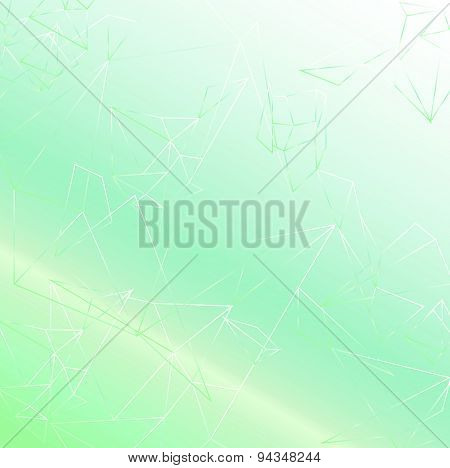 Light green soft abstract polygonal background