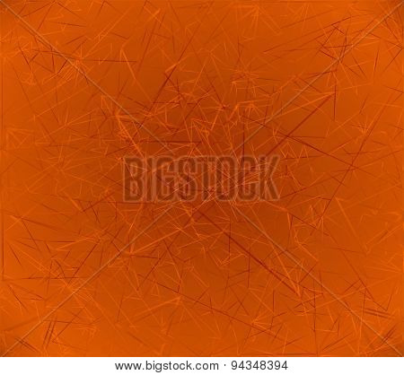 Orange abstract polygonal background