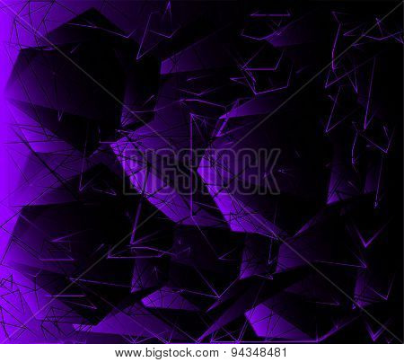 Polygonal design - Abstract geometrical background