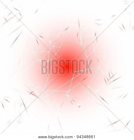 Red and White Modern Lines Background