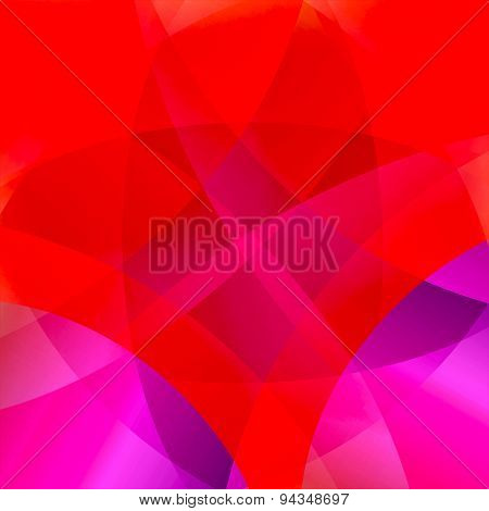 Red smooth twist light lines vector background