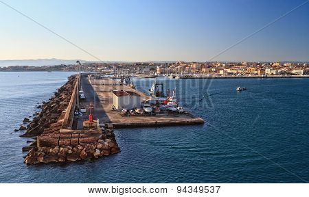 Sardinia - Harbor In Porto Torres