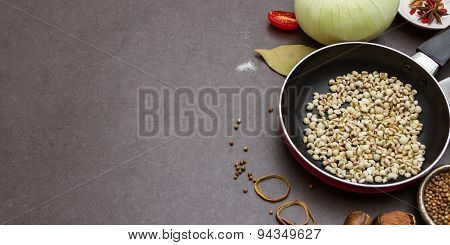 Spices ,cereals <millet >and Herbs , Food And Cuisine Ingredient.