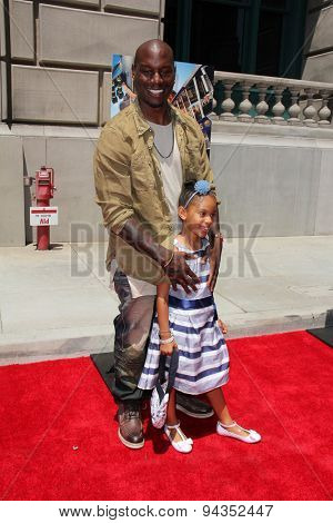 LOS ANGELES - JUN 23:  Tyrese Gibson, daughter at the