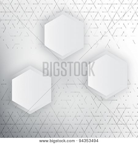 Vector abstract 3d hexagonal.