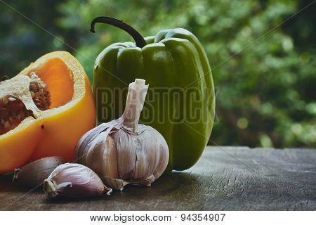 Pepper and garlic