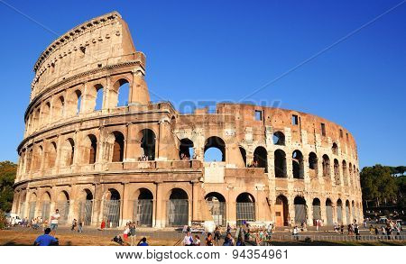 September 10, 2011, Rome, Italy. The Colosseum In A Clear Blue Sky,  Rome, Italy