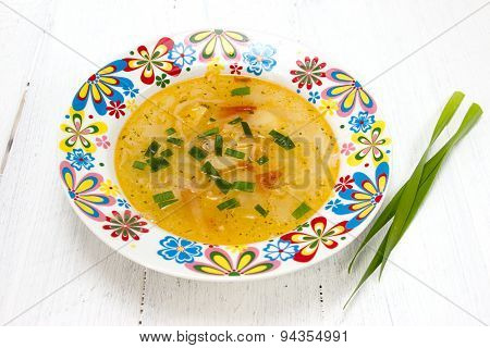 Cabbage Soup With Green Onion