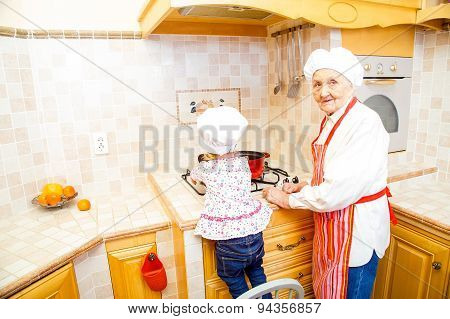 Helping Hand In Kitchen