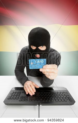 Cybercrime Concept With National Flag On Background - Ghana