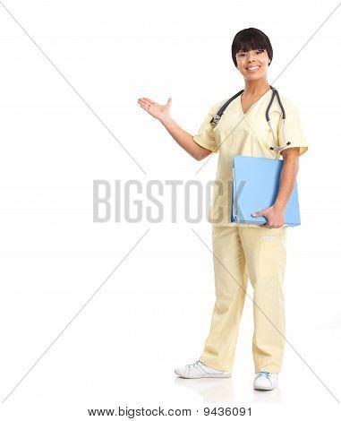 Medical Nurse Presenting