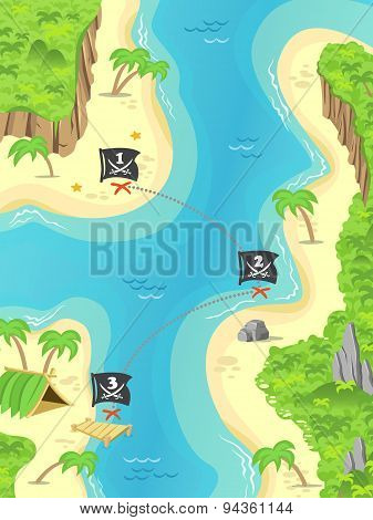 Pirate treasure island