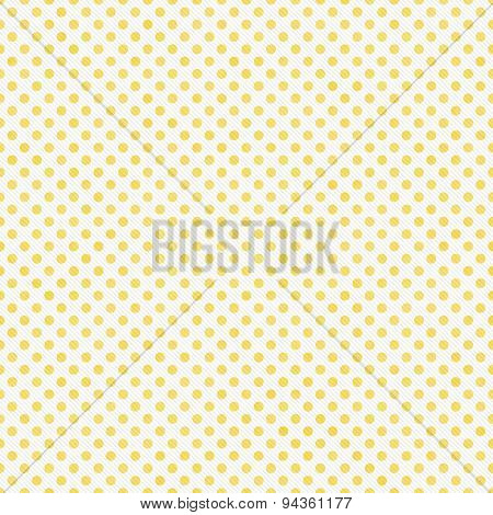 Light Yellow And White Small Polka Dots Pattern Repeat Background