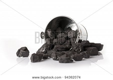 Bucket full of coal