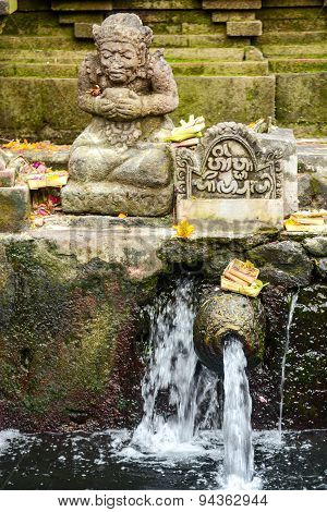 Holy Spring Water In Tirta Empul Temple