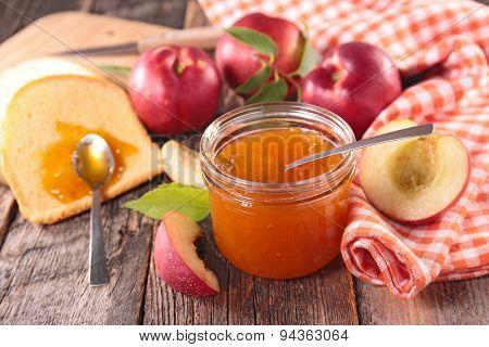 peach jam and brioche