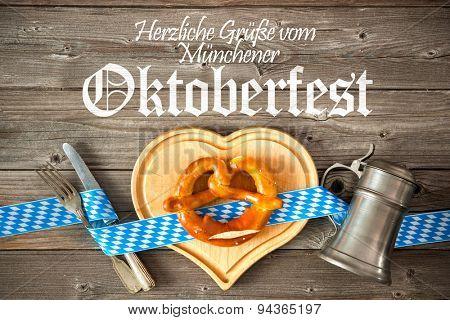 Oktoberfest beer festival template background. Regards from Oktoberfest