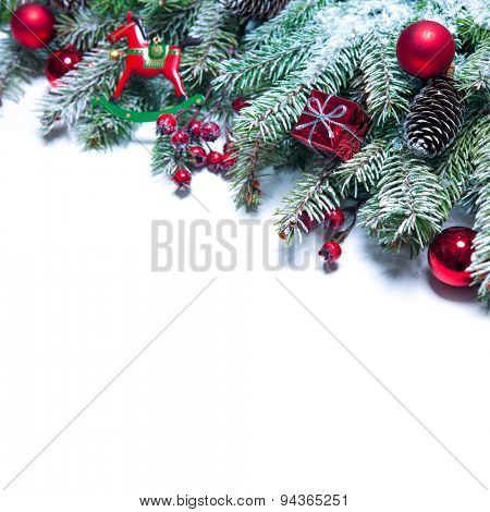Christmas decoration Holiday decorations isolated on white background