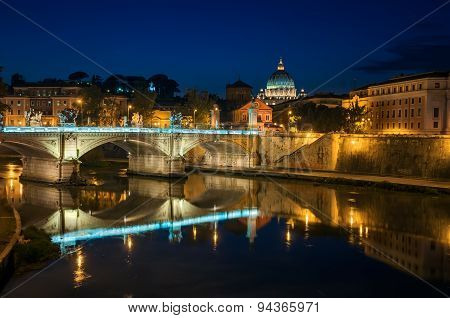 Rome, Night Landscape.