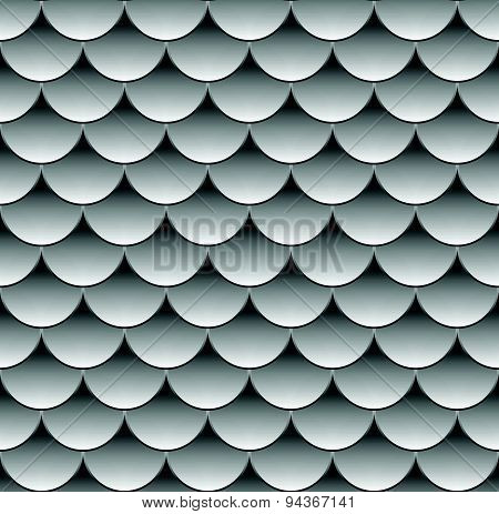 Grayscale (monochrome) Pattern With Overlapping Circle Shapes. Seamlessly Repeatable.