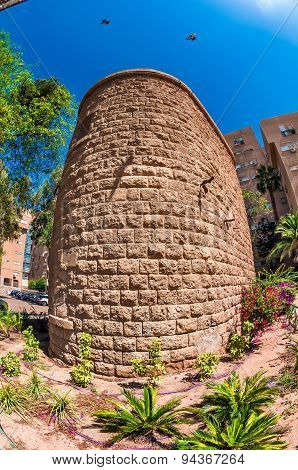 The Old Turkish Water Tower In Beersheba. Israel.