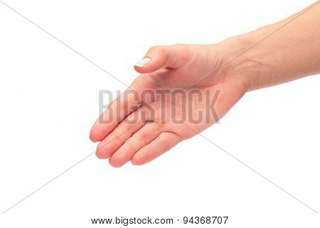 Two hands isolated on a white background