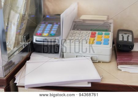 The image of cash register