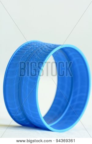 Round blue plastic loop