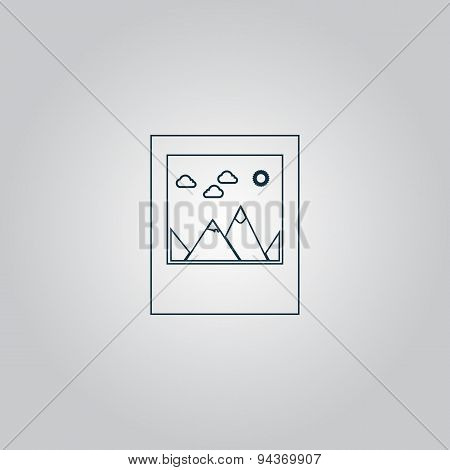 photo landscape web icon