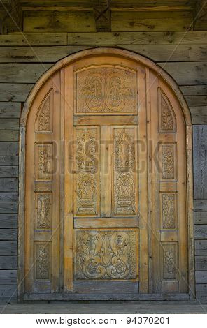 Old Carved Door