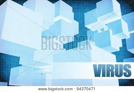 Virus on Futuristic Abstract for Presentation Slide