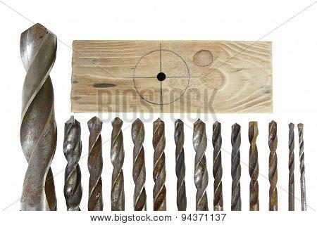 Leader Group Of Vintage Drill Bits Metal Wood
