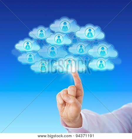 Finger Contacting Workforce Via Cloud