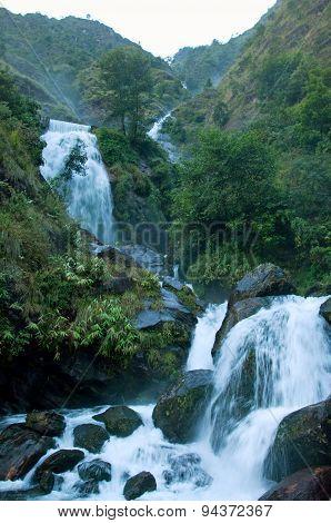 Waterfall in the Himalaya mountains