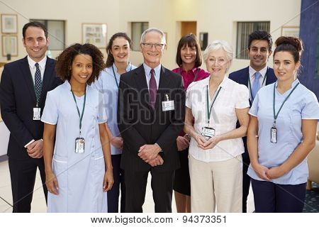 Portrait Of Hospital Medical Team