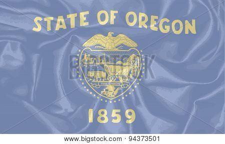 Oregon State Silk Flag