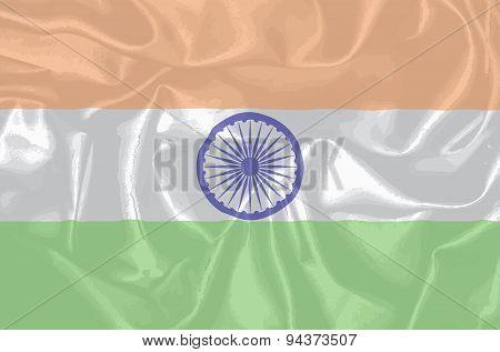 India Silk Flag