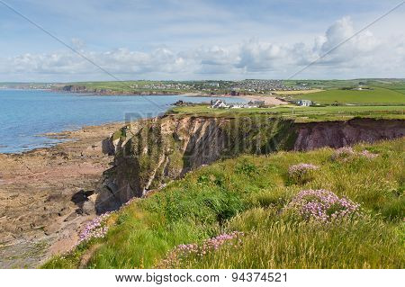 Coast view to Thurlestone South Devon England UK near Hope Cove and Salcombe