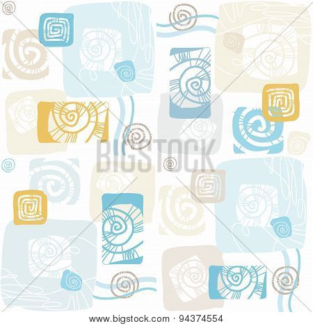 Seamless Pattern With Sea She...