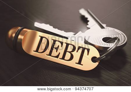 Debt written on Golden Keyring.