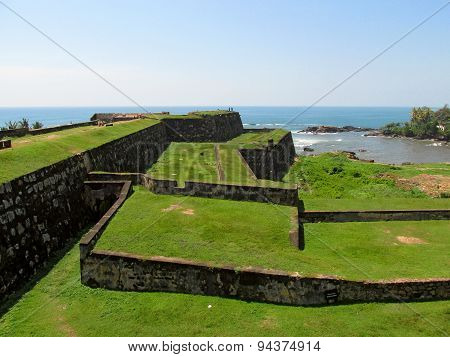 Old walls of Fort Galle, Sri-Lanka