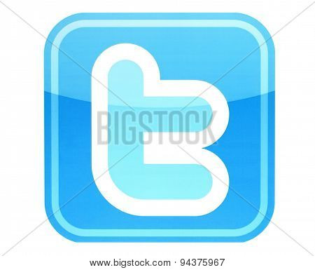 KIEV UKRAINE - MAY 26 2015:Twitter logotype