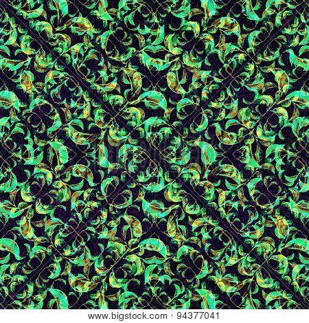 Modern Nature Collage Seamless Pattern